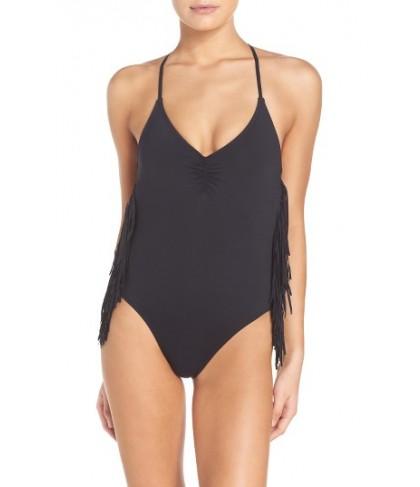 L Space Fringe One-Piece Swimsuit