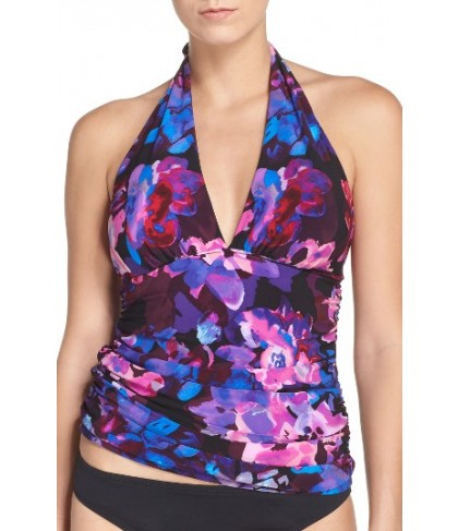 Magicsuit Divine April Halter Tankini Top - Purple