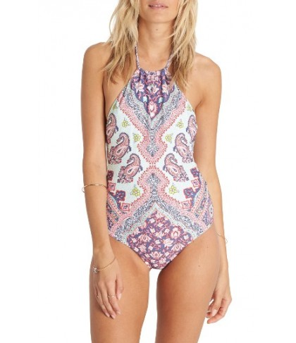Billabong Luv Lost One-Piece Swimsuit - Grey