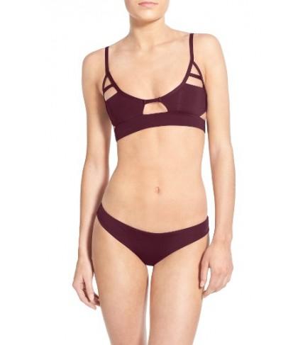 Tavik 'Jessi' Cutout Triangle Bikini Top - Burgundy