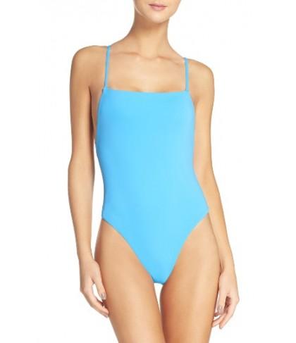 Mara Hoffman High Cut One-Piece Swimsuit - Blue