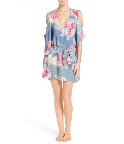Isabella Rose Birds Of A Feather Cover-Up Tunic/Large - Grey