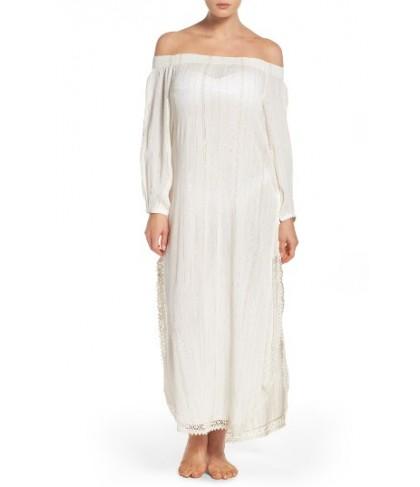 Muche Et Muchette Iris Off The Shoulder Cover-Up Dress - White