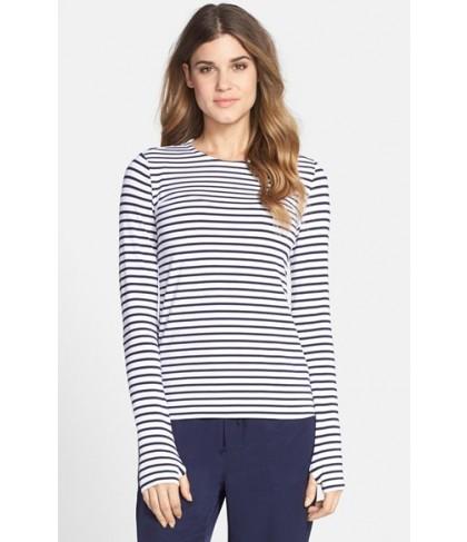 Mott 5 Stripe Jersey Top  - Blue