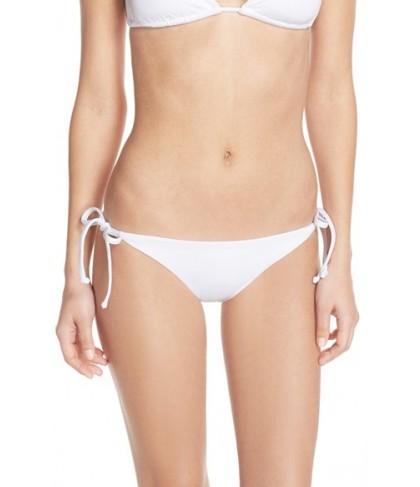 Becca 'Color Code' Side Tie Bikini Bottoms  - White