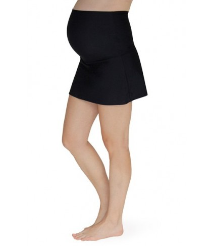 Mermaid Maternity Foldover Maternity Swim Skirt With Attached Briefs Size XX-Large - Black