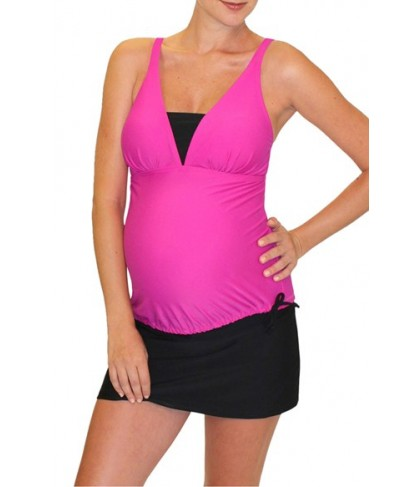 Mermaid Maternity Tankini Top Size XX-Large - Red