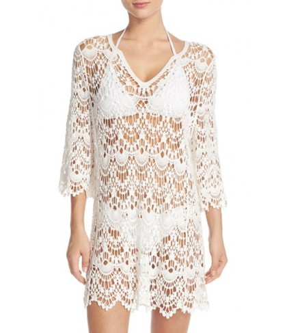 Surf Gypsy Crochet Cover-Up Tunic  - White