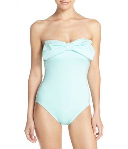 Kate Spade New York Bow Neck One-Piece Swimsuit