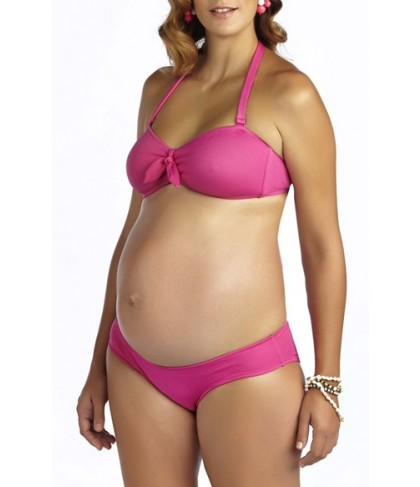 Pez D'Or 'Rimini' Textured Maternity Bikini - Pink