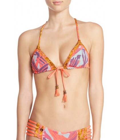 Maaji 'Tassels Dali' Reversible Triangle Bikini Top