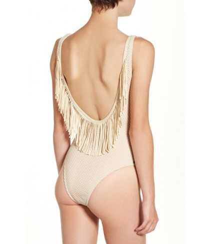 Rip Curl 'Joyride' Fringe One-Piece Swimsuit  - Beige