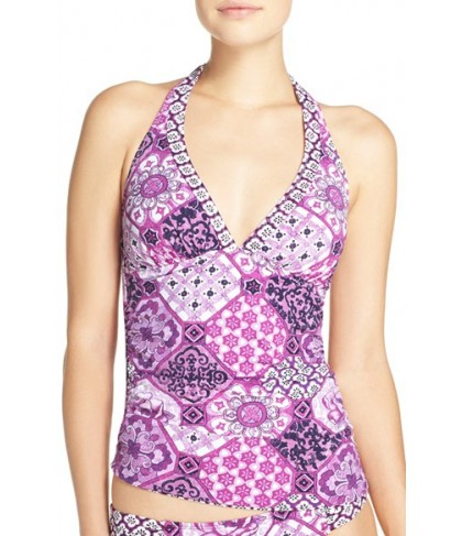 Tommy Bahama 'Tiles Of Tropics' Reversible Halter Tankini Top  - Pink