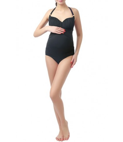Kimi And Kai 'Jamie' Halter One-Piece Maternity Swimsuit - Black
